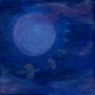 Noční výlet / 2005 olej 60 x 60 cm - prodáno
