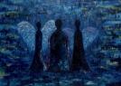 Déšť / 2006 olej 50 x 70 cm - prodejné