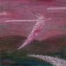 Nad kopci / 2007 olej 40 x 40 cm - prodáno
