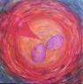 Hnízdo / 2016 olej 50 x 50 cm prodejné