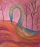 Labuť / 2013 olej 60 x 70 cm prodejné