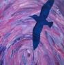 Ptáci IV / 2012 olej 65 x 65 cm - prodejné