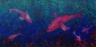 U mě dobrý / 2012 olej 80 x 160 cm prodejné