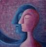 K měsíci / 2007 olej 40 x 40 cm - prodáno
