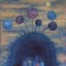 Modrá krajina / 2006 olej 33 x 33 cm - prodáno