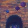 Růžové mraky / 2006 olej 33 x 33 cm - prodáno