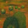 Zelená krajina 40 x 40 cm - prodáno