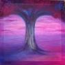Modrý strom / 2008 olej 80 x 80 cm - prodáno