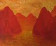Červená krajina / 2012 olej 70 x 98 cm prodejné