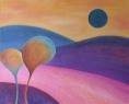 Modré slunce / 2013 olej 70 x 85 cm - prodáno