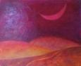Růžový měsíc / 2013 olej 70 x 85 cm prodejné