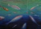 Návnada / 2008 olej 70 x 100 cm - prodejné