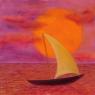 Loďka / 2008 olej 33 x 33 cm - prodáno