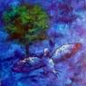 Noční pták / 2010 olej 60 x 60 cm - prodejné