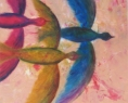 Ptáci / 2010 olej 40 x 50 cm  - prodejné
