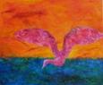 Vodní pták  / 2011 olej 70 x 85 cm - prodejné