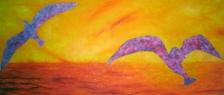 Z divokých vajec / 2011 olej 90 x 210 cm