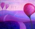 Růžová krajina / 2011 olej 70 x 85 cm - prodejné