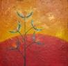 Srpkovice plamenná / 2008 olej 50 x 50 cm