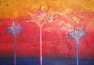 Tři bodlákovci / 2009 olej 70 x 100 cm - prodejné