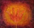 Tulipa carota / 2008 olej 75 x 90 cm
