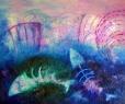 Hostina / 2010 olej 70 x 85 cm