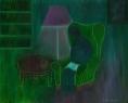 Unavený čtenář / 2005 olej 40 x 50 cm - prodáno